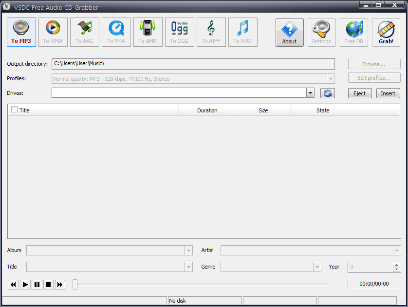 Скачать VSDC Free Audio CD Grabber
